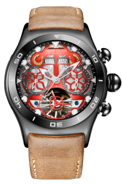 đồng hồ reef tiger Air Bubble Skeleton RGA703-BRB