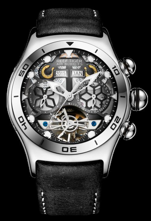 đồng hồ reef tiger Air Bubble Skeleton RGA703-YBB